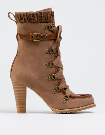 Beige Ankle Boots River Island