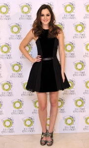 Leighton Meester Promotes 'Herbal Essences' in Madrid